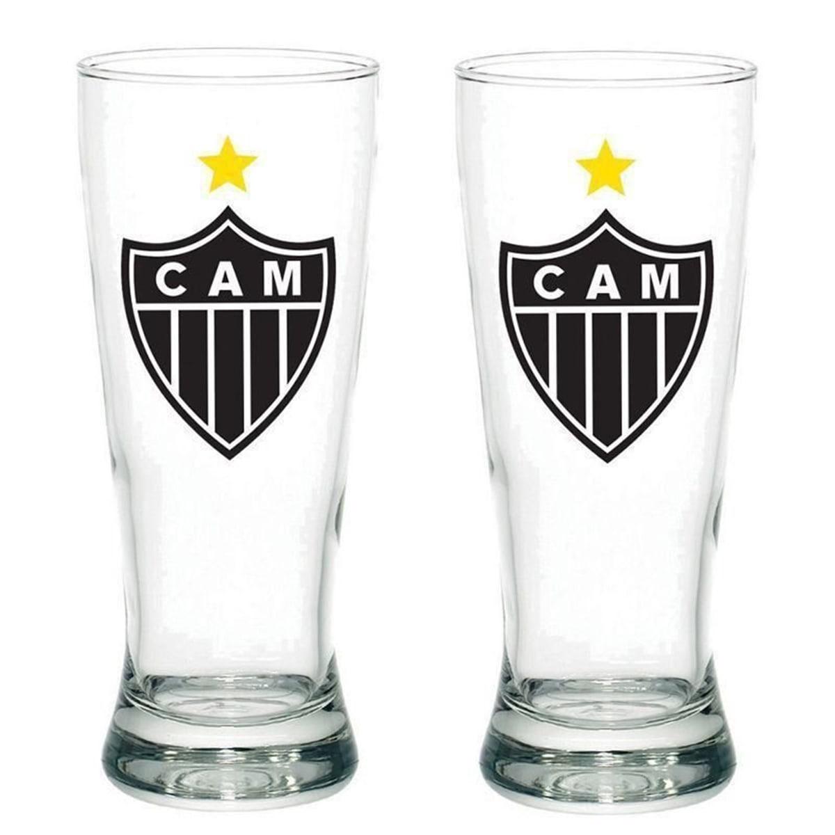 Conjunto Copo de Chopp com 2 Atlético Mineiro 300ml