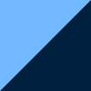Azul Claro e Marinho