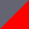 Cinza e Vermelho