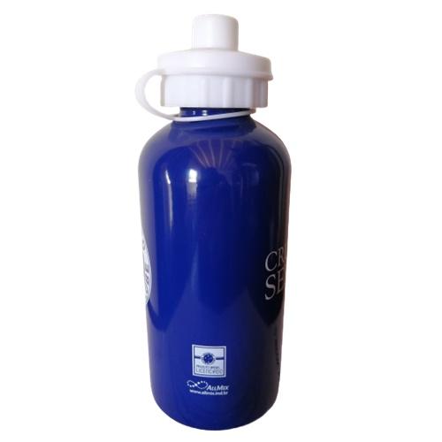 Garrafa Cruzeiro Squeeze de Alumínio Azul 500ml Oficial