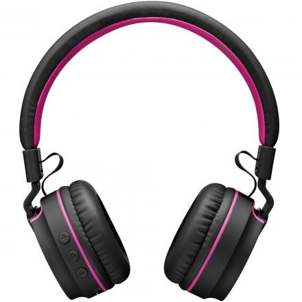 Headphone Fun Bluetooth Preto e Rosa - Pulse - PH216