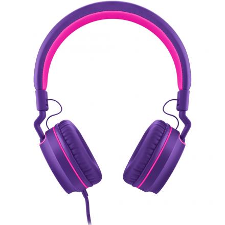 Headphone On Ear Stereo Rosa/Roxo - Pulse - PH161