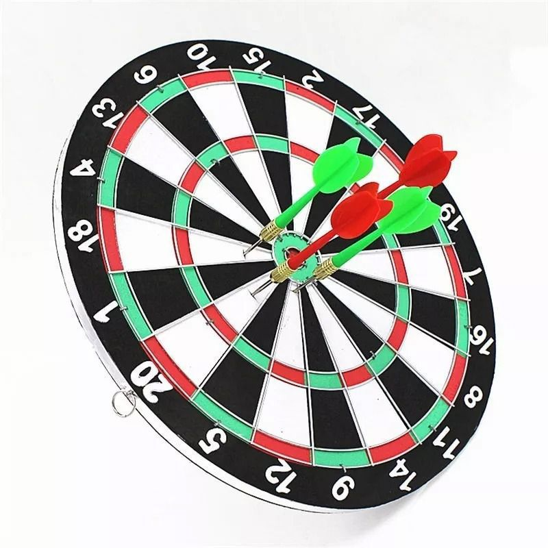 Jogo De Dardo Dart Board 42cm Dupla Face Game C/ 6 Dardos