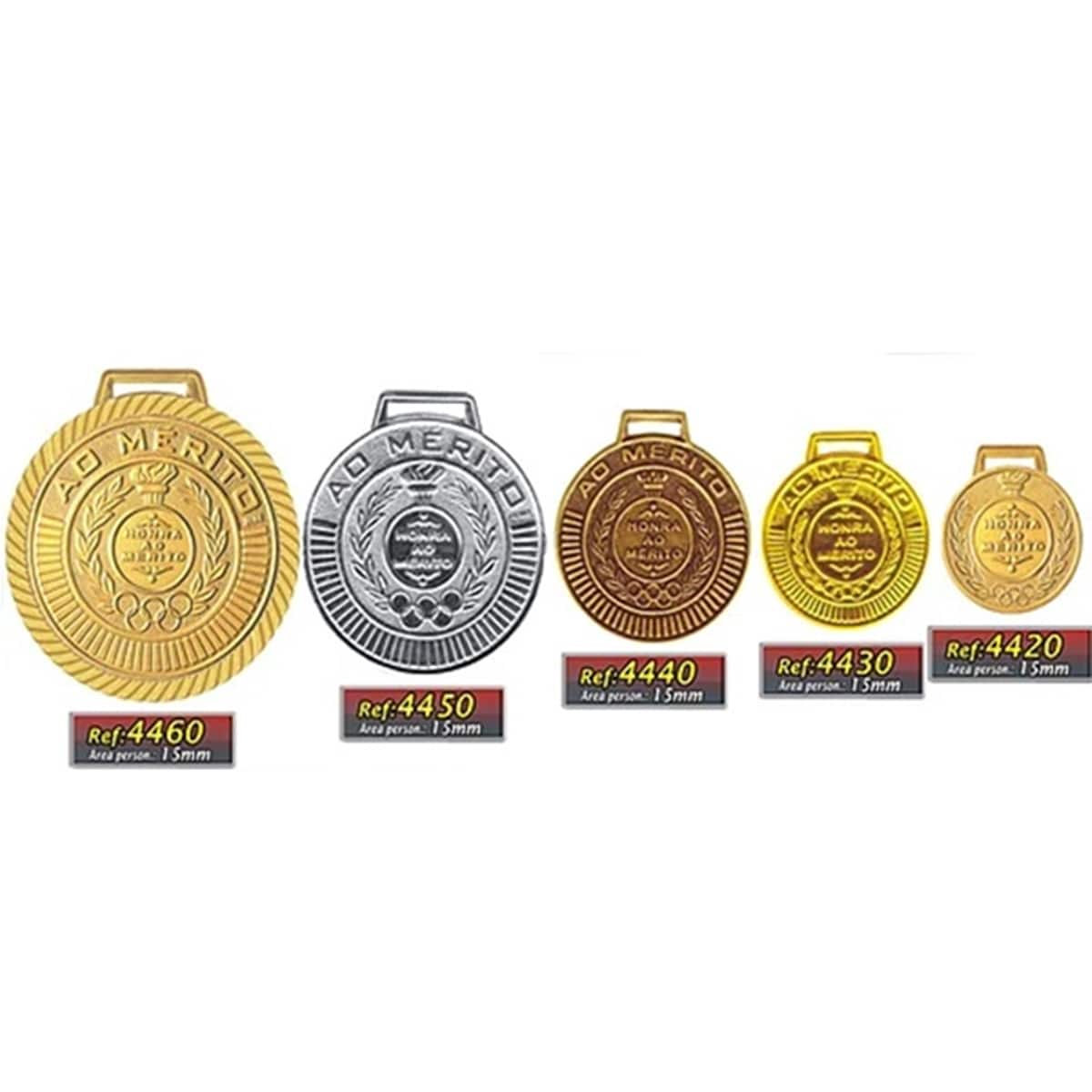 Kit C/20 Medalhas Rema Honra ao Mérito 50mm com Fita