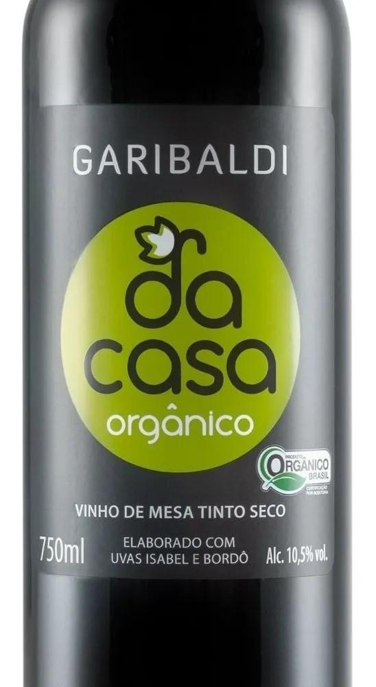 Kit com 3 Vinhos Garibaldi Da Casa Tinto Orgânico 750 mL