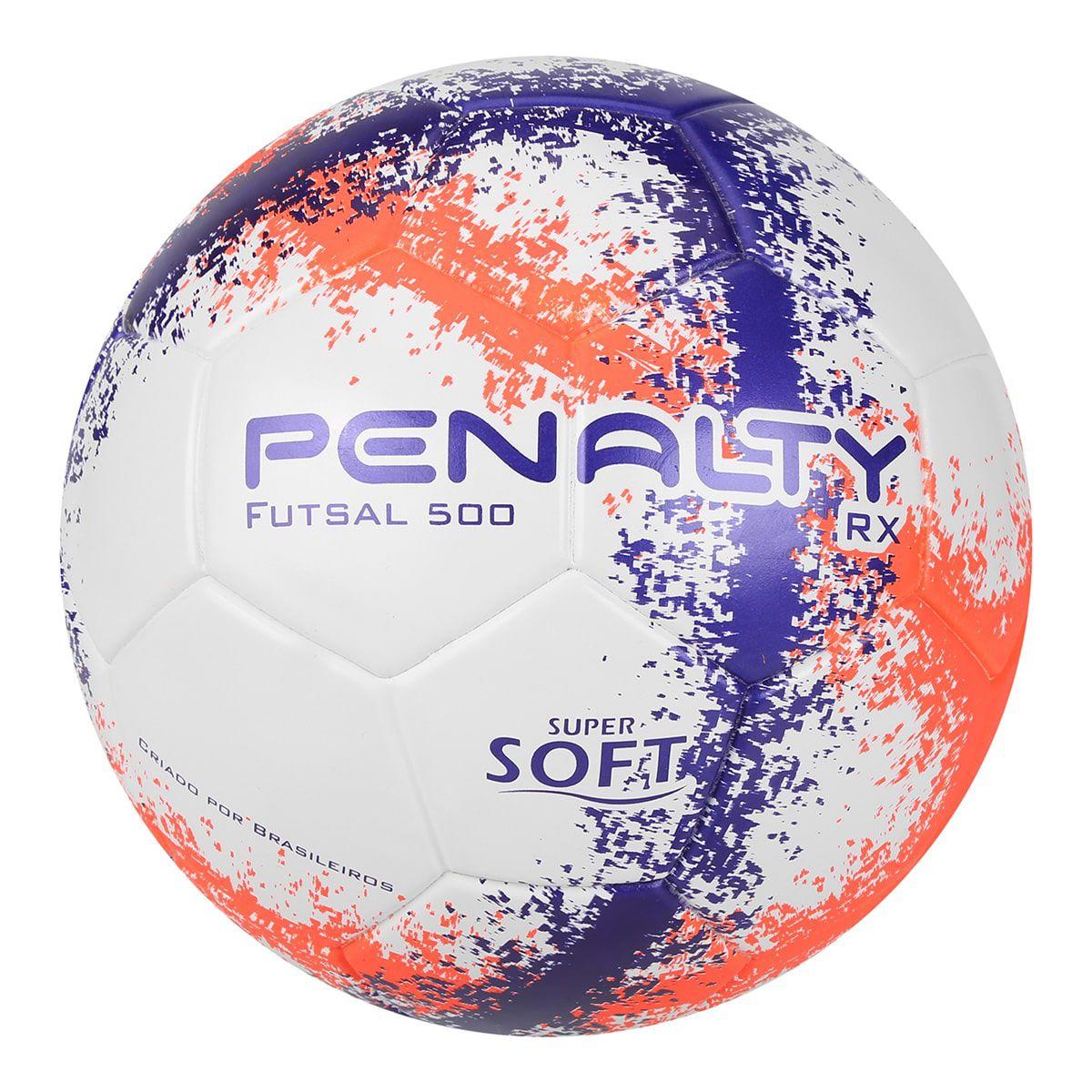 Kit C/6 Bolas Futsal Penalty RX 500 R3 Fusion VIII