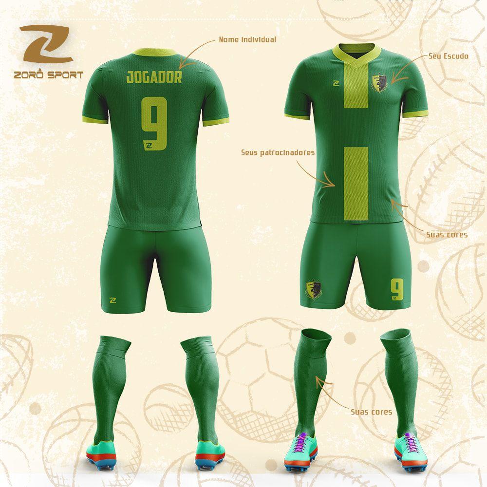 Kit com 10 Uniformes (Camisa, Calção, Meião) Personalizado Zoro Sport