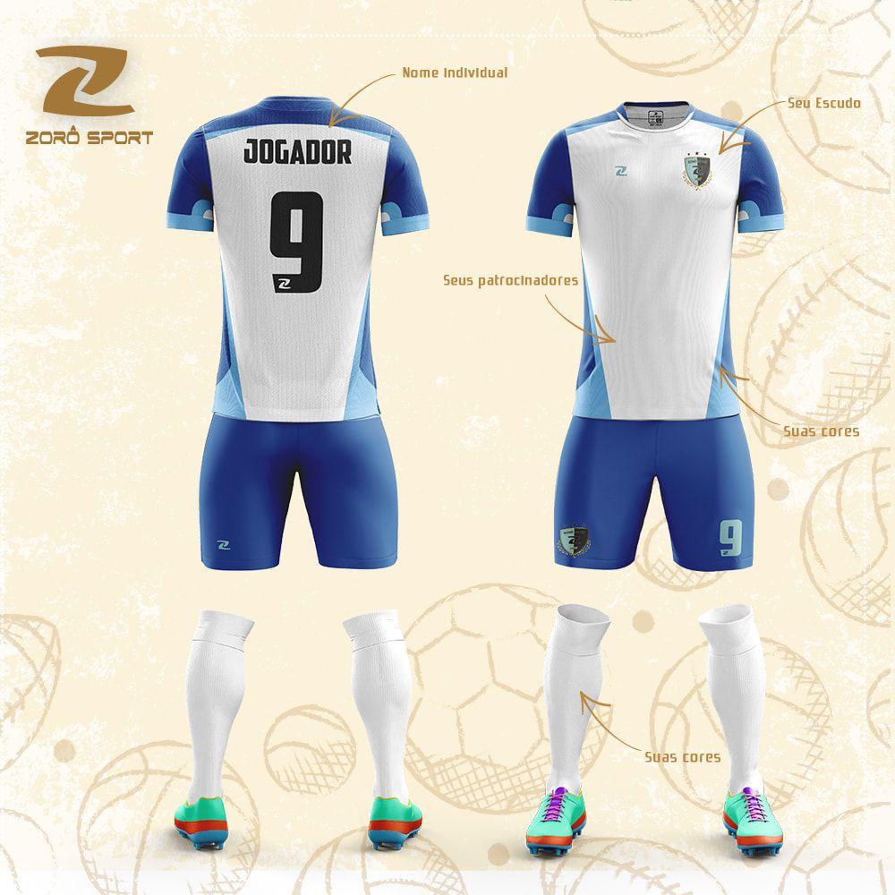 Kit com 16 Uniformes (Camisa, Calção, Meião) Personalizado Zoro Sport
