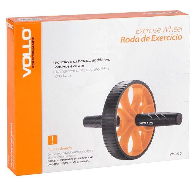 Roda de Exercício Abdominais Simples VP1010 Vollo Sports