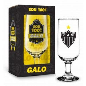 Taça na Caixa 300ML Atlético - Sou 100% Galo
