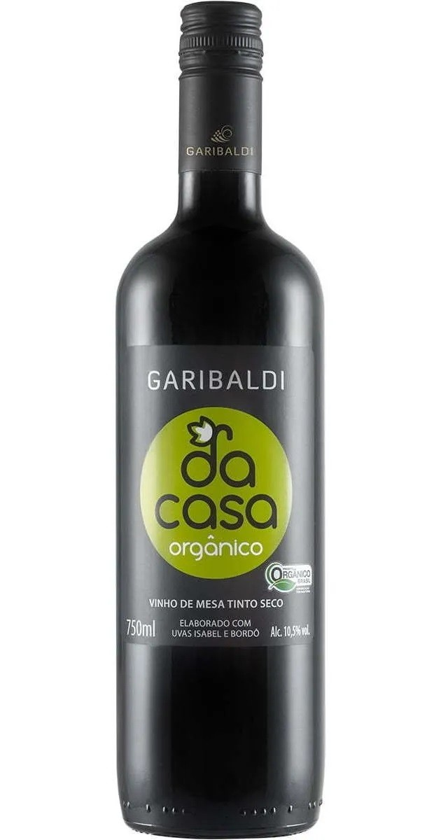 Vinho Garibaldi Da Casa Tinto Orgânico 750 mL