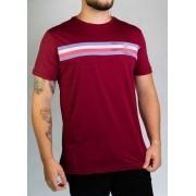 Camiseta Listras Vermelha O