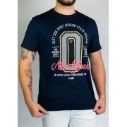 Camiseta College Azul Marinho O