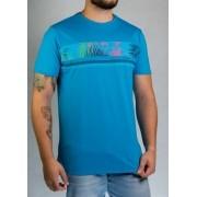Camiseta Flores Azul O