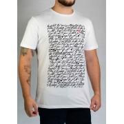 Camiseta Letter Branca O