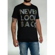 Camiseta Never Look Back Preta O