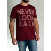 Camiseta Never Look Back Vermelha O