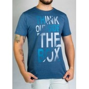 Camiseta Think Outside Azul Mescla O