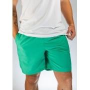 Short de Elástico Liso Verde O