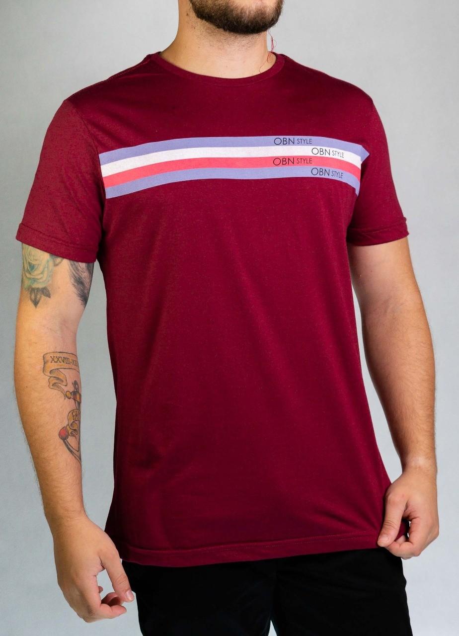 Camiseta Listras Vermelha O'Born