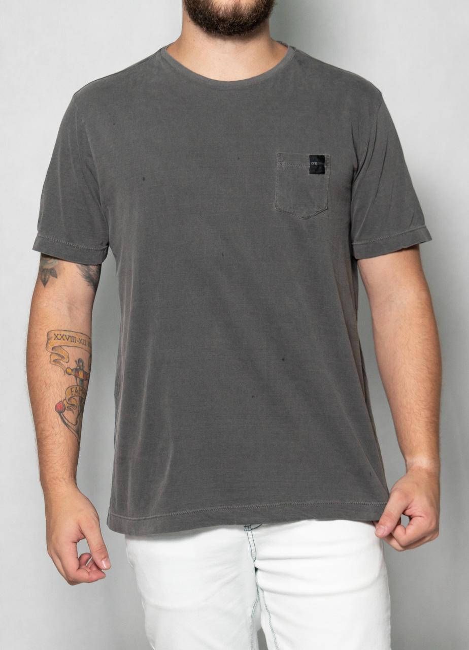 Camiseta de Bolso Cinza O'Born