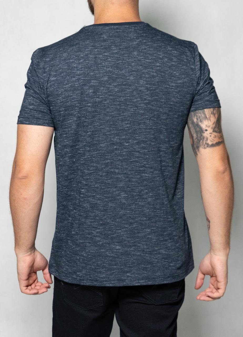 Camiseta Faixa Relevo Azul Mescla O'Born
