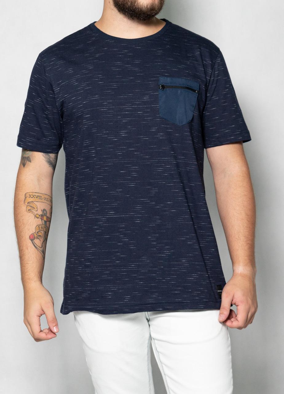 Camiseta Jet White Bolso Azul O'Born