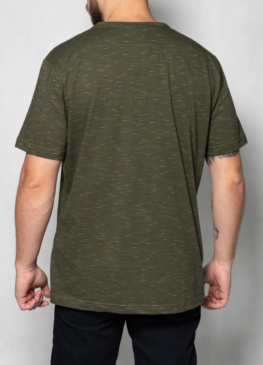 Camiseta Jet White Bolso Verde Musgo O'Born