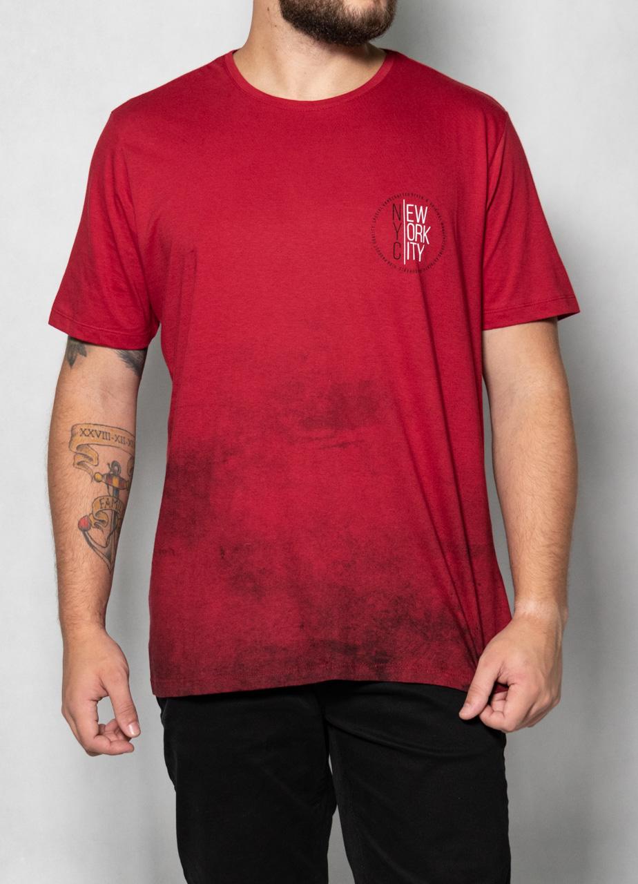 Camiseta New York Barra Degradê Vermelha O'Born