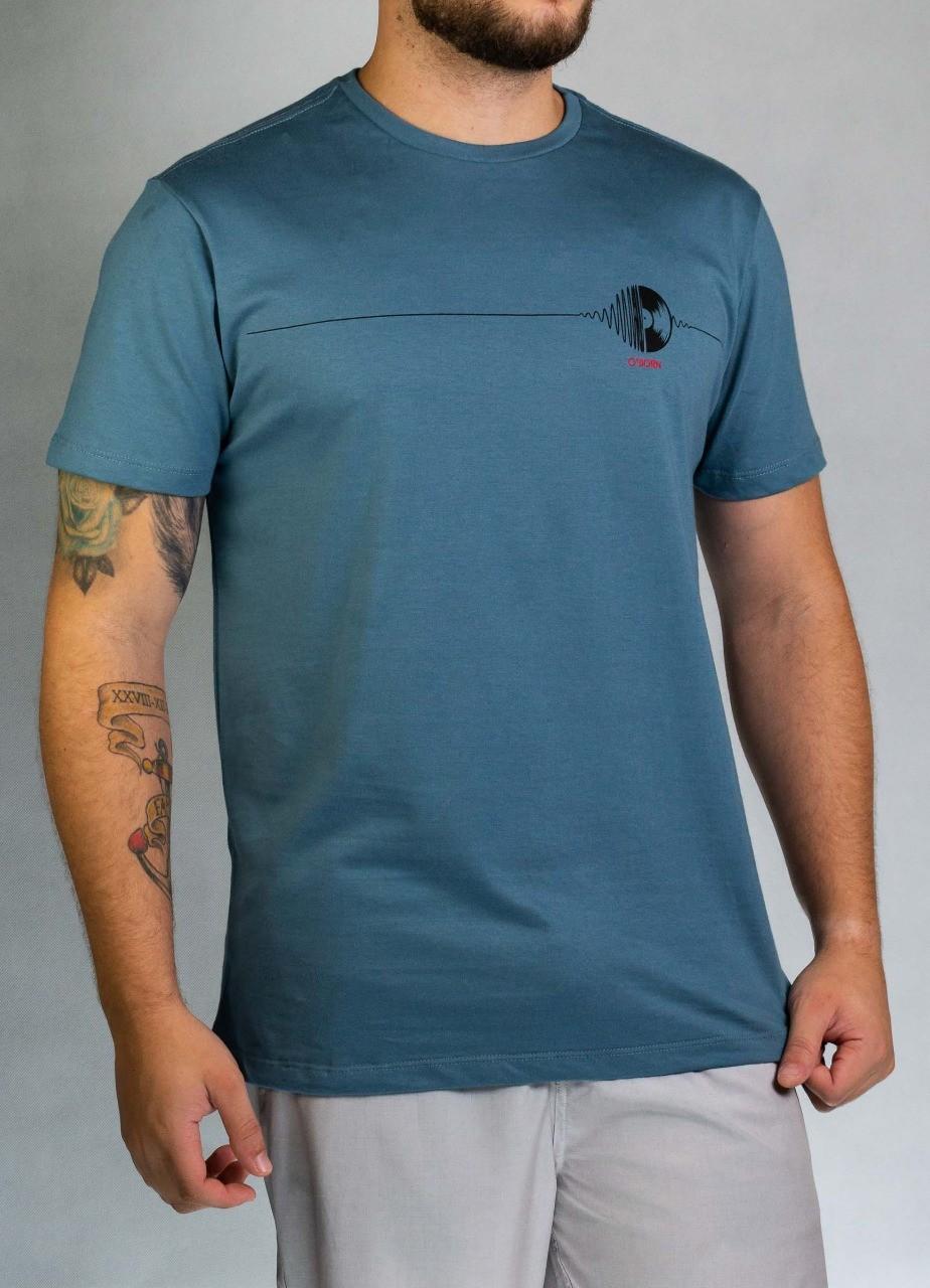 Camiseta Disco Azul Mescla O'Born