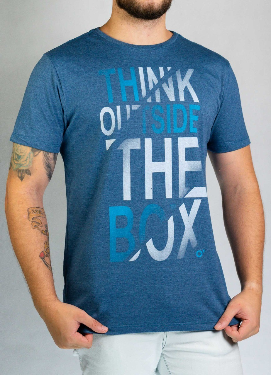 Camiseta Think Outside Azul Mescla O'Born