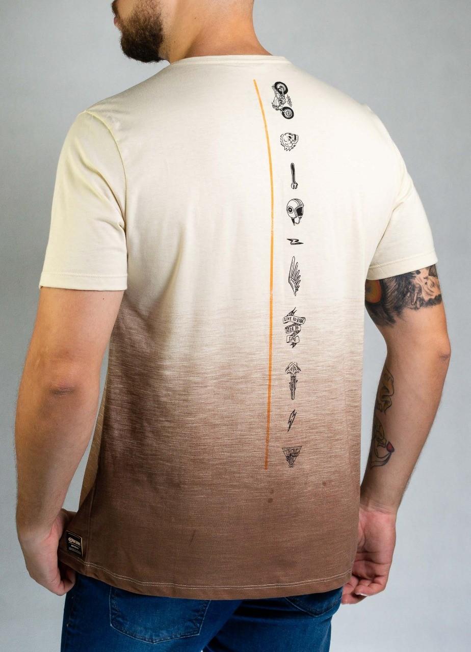 Camiseta Tie dye Bege O'Born