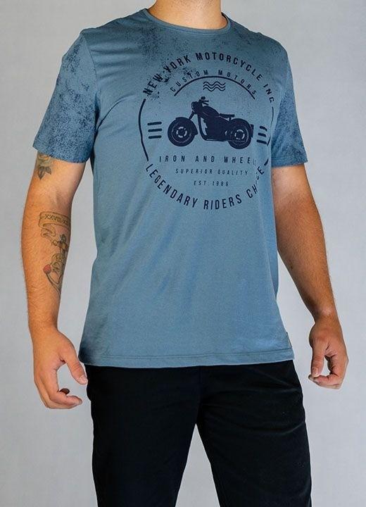 Camisa O'Born Motocycle Azul