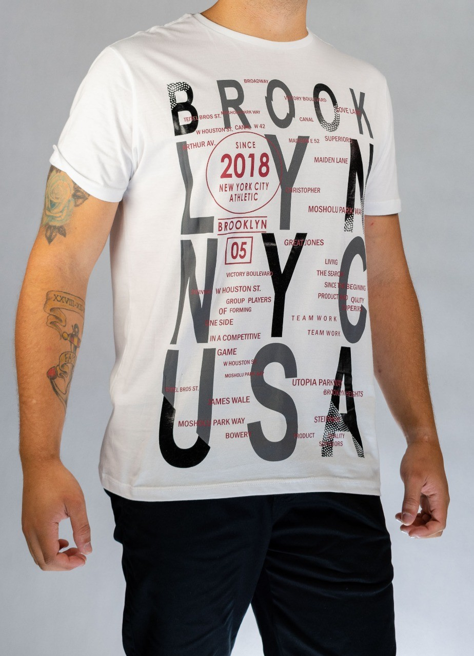 Camiseta Brooklyn Branca O'Born