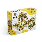 Blocos de Montar Cubic City Modelo Construção 12 em 1 com 573 Peças - Multikids - BR1093