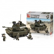 Blocos de Montar Land Forces Tanque de Guerra 312 Peças - Multikids - BR908
