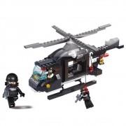 Blocos de Montar Policia Helicóptero de Combate 219 Peças - Multikids - BR834