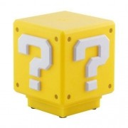 LUMINARIA SUPER MARIO BROS - MINI QUESTION BLOCK COM SOM