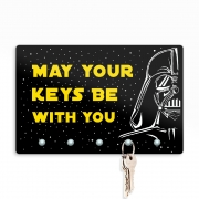 Porta Chaves 20x13cm - Darth Keys Star Wars