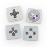 Porta Copos de Acrílico - Controles Nintendo e Play Station