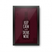 Quadro Porta Rolhas Keep Calm and Drink Wine
