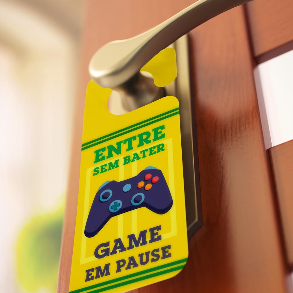 Aviso de Porta - Gamer em Ação
