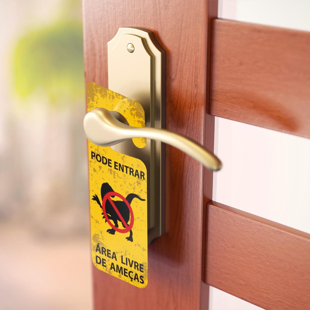 Aviso de Porta - Jurassic Park Velociraptor