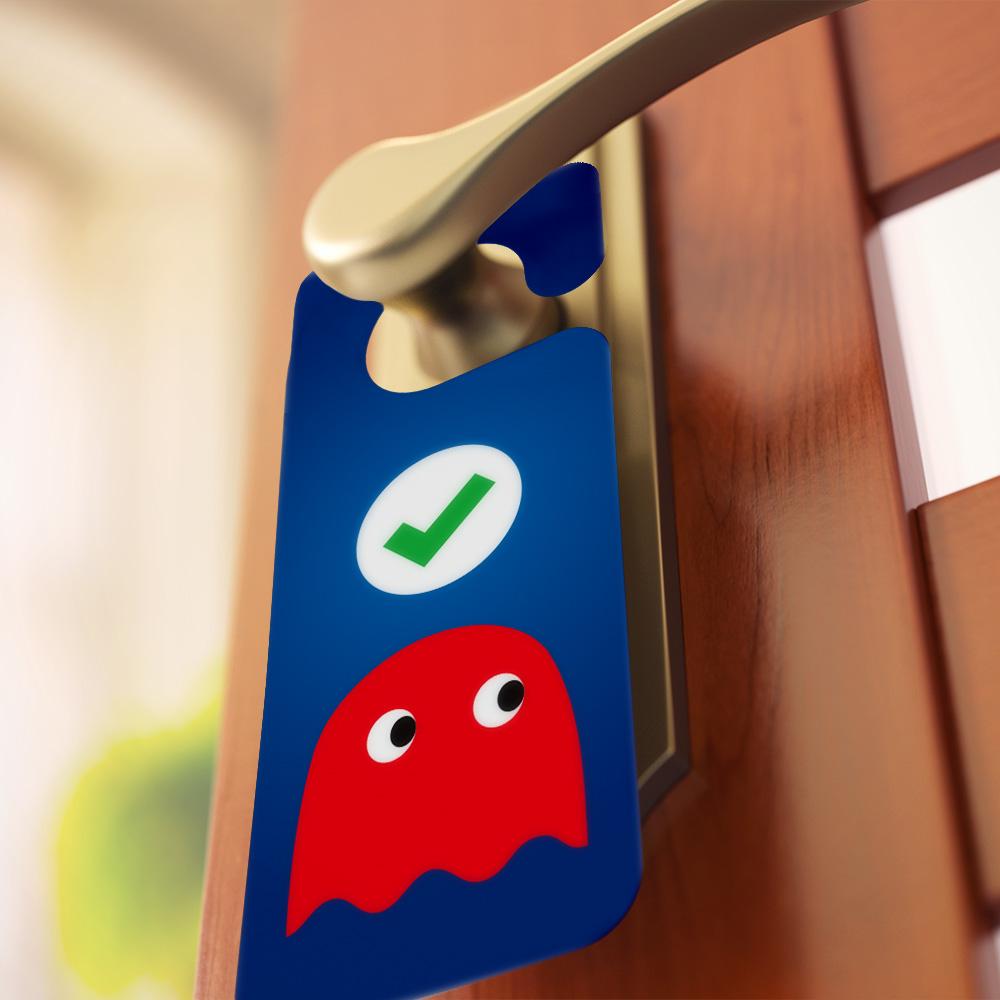 Aviso de Porta Pac-Man Fantasmas