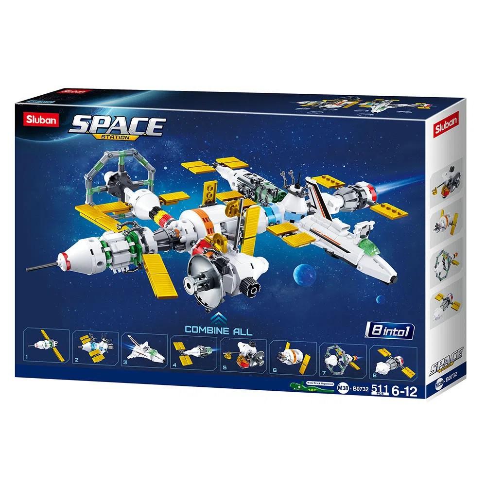 Blocos de Montar Astronautas Estação Espacial 511 Peças - Multikids - BR1032