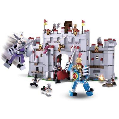 Blocos de Montar Cavaleiros Castelo 877 Peças - Multikids - BR1341