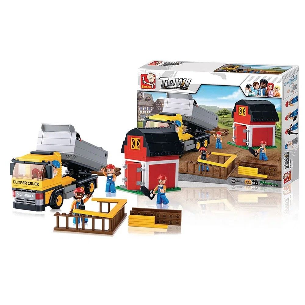 Blocos de Montar Construção Caminhão com Caçamba 384 Peças - Multikids - BR831
