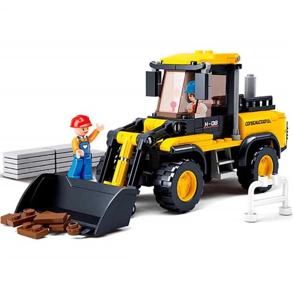 Blocos de Montar Construção Empilhadeiras 212 Peças - Multikids - BR827