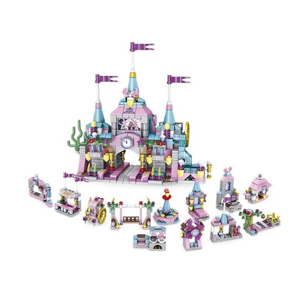 Blocos de Montar Cubic Castle Modelo Castelo 12 em 1 com 572 Peças - Multikids - BR1097