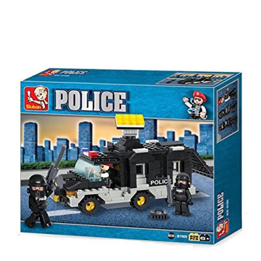 Blocos de Montar Policia Carro de Comando 206 Peças - Multikids - BR835